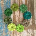 Handmade crochet flowers, pack of 5, earthy, rustic, sewing, appliqué, craft