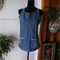 Denim tunic top with check trim