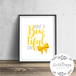 Have A Bowtiful Day - Emma Wiggles Inspired Wall Art Print