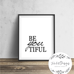 Beyoutiful - Wall Art Print