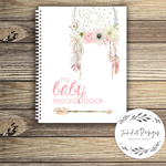 Baby Record Book - Girl - Floral Dreamcatcher