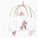Copper Sparkle Unicorn | Nursery Mobile (custom)