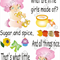 What Little Girls Are Made Of, Traditional Nursery Rhyme Decal
