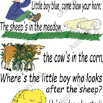 Little Boy Blue, Traditional Nursery Rhyme Decal