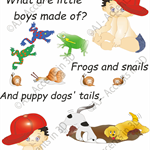 What Little Boys Are Made Of, Traditional Nursery Rhyme Decal