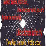 Twinkle Twinkle Little Star, Traditional Nursery Rhyme Decal