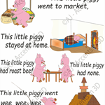 This Little Piggy, Traditional Nursery Rhyme Decal