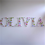 Wooden 9cm Wall or Door Letters. 6 Letters.