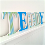 Wooden 17cm Wall or Door Letters. 5 Letters.