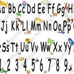 Alphabet and Numbers Decal Banner for your Child/Nursery/Kids