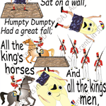 Humpty Dumpty, Traditional Nursery Rhyme Decal