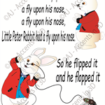 Little Peter Rabbit, Traditional Nursery Rhyme Decal