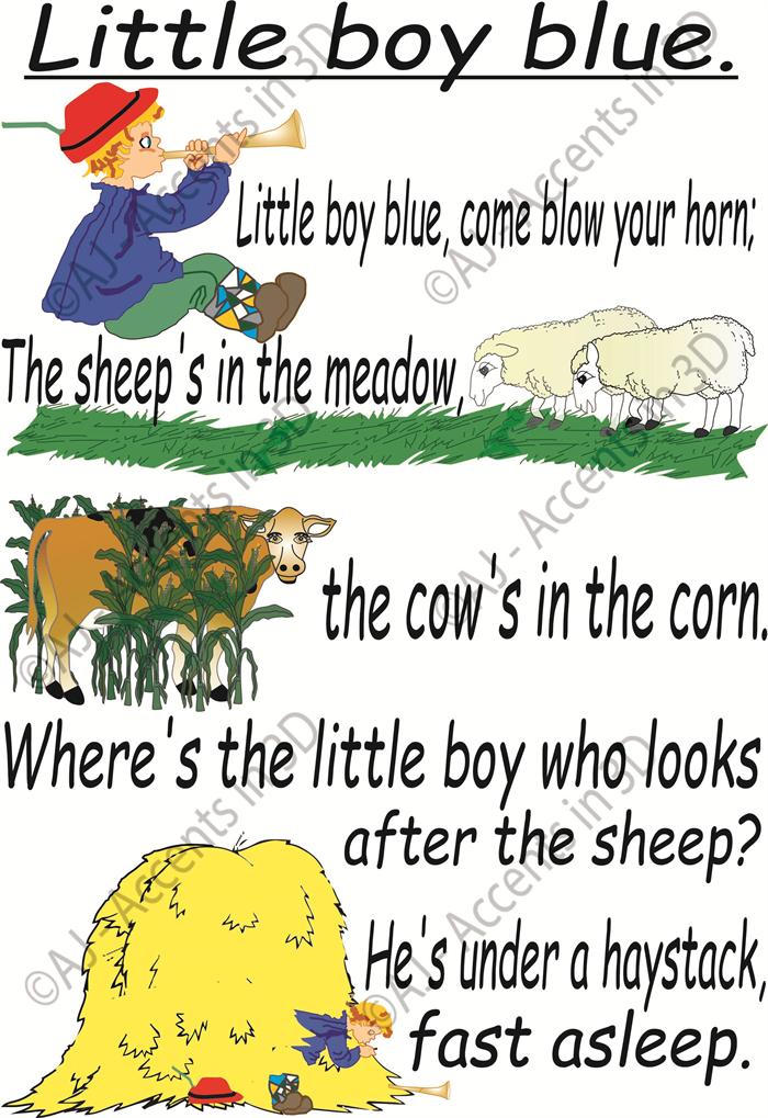 Little Boy Blue Traditional Nursery Rhyme Decal