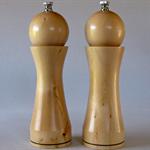"Handmade Pair of Huon Pine 175 mm/7"" Salt & Pepper Mills Grinders"