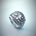Genuine Sterling Silver Spoon Ring | Hallmarked | Gorham 'King Edward' 1896