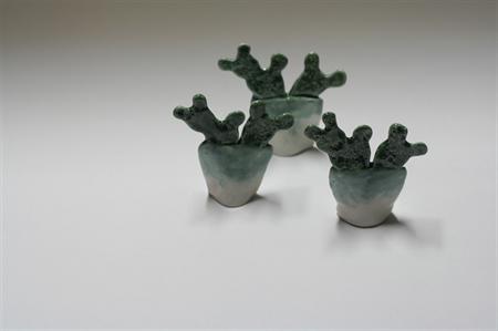 Cactus figurine, ceramics