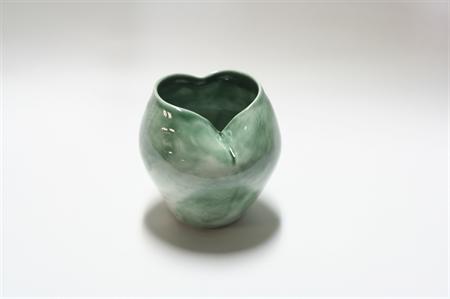 Green Heart-Shaped Pot