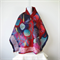 Felted Scarf Wrap Shawl Felt Red Blue Silk