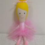 Ballerina Rag Doll- Light Pink - FREE POSTAGE AUST