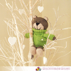 Brinkley - Hand Knitted Teddy Bear