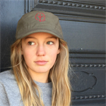 Unisex Khaki Military style cap featuring embroidered Red Branch graphic.