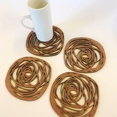 Jarrah Scribble Coasters