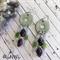 Earrings, Dangle, Bohemian, Ethnic, Handmade, Glass Bead , Hippie, Gypsy,