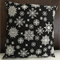 Christmas Snowflake Cushion cover only, black & white combination, 40cm x 40cm