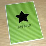 Male Birthday card - green & black