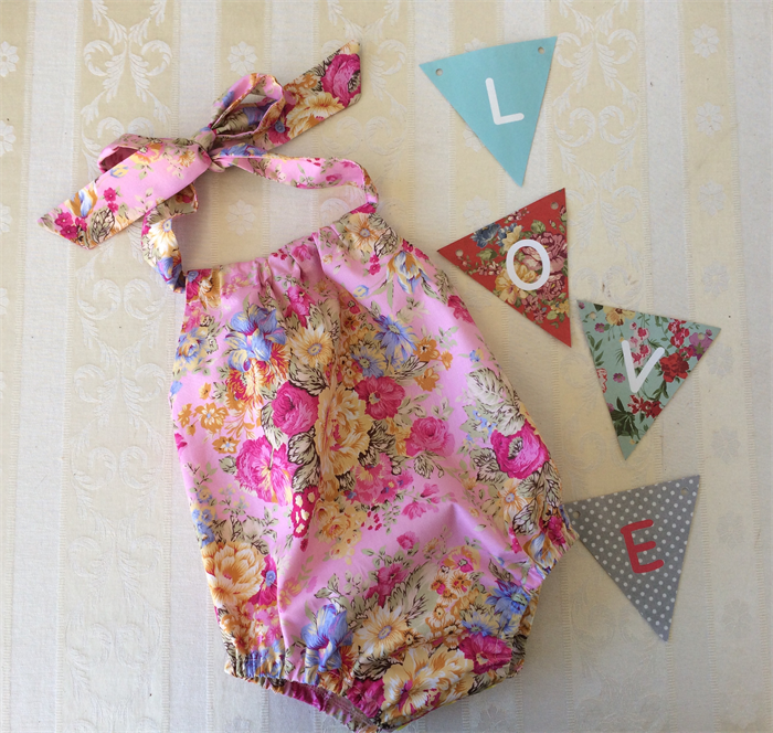 387330287 Pretty floral play suit. Handmade baby girl romper ,baby girls sun suit. |  Tiny Townships | madeit.com.au
