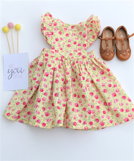 Polly Flutter Floral Pinny, Pinafore, Dress, Girl
