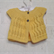 Hand Knit, Cotton, 3 - 9 m Baby Cap Sleeve Lacy Cardigan, Yellow