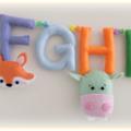 Alphabet Banner, Alphabet Garland, Nursery, Play Room décor, Educational, Gift