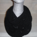 Hand knit midnight light n lacy infinity scarf
