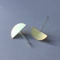 Half Moon Earrings in Brass & 925 Sterling Silver