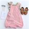 Pink Cotton Linen Romper Playsuit