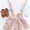 Pretty Spring Floral suspender skirt, baby, toddler, girl