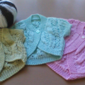 BABY GIRLS COTTON SHORT SLEEVE BOLEROS TO FIT 0-3, 3-6 and 6-12 months.