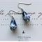 Handmade Porcelain Drop Earrings ~ Ocean Blue & White