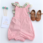 Pink Cotton Linen Romper Playsuit