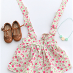Pretty Spring Floral suspender skirt, baby, toddler, girl