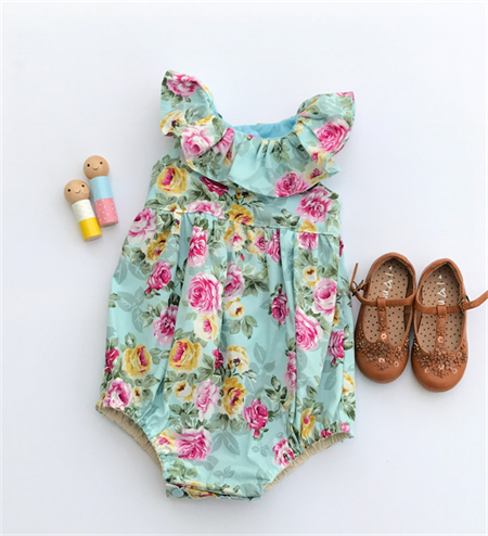 Lucy Ruffle Floral baby doll Romper Playsuit - size 1
