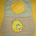 """""""Big Yellow Bird"""" Baby Bib"""