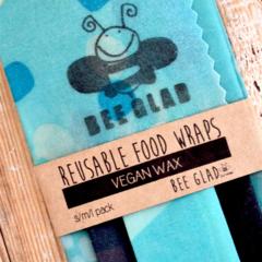 3 pack - Vegan Reusable Food Wraps