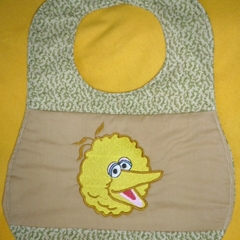 """Big Yellow Bird"" Baby Bib"