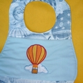 """Hot Air Balloon"" Baby Bib"