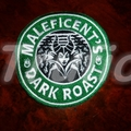 "Starbucks inspired ""Maleficent"" Drink Coaster"