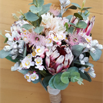 Australian Native Flowers Bridal Bouquet - Protea, Gum Nuts, Eucalyptus Blossom