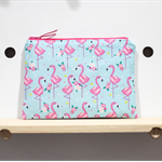 Pink Flamingios Zipped Pouch or Pencil case