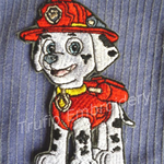 """Fire Dog"" Iron-on Badge"